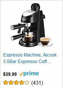 Espresso Machine, Aicook 3.5Bar Espresso Coffee Maker
