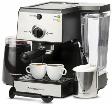 6 EspressoWorks 7 Pc Best All-In-One Espresso Machine
