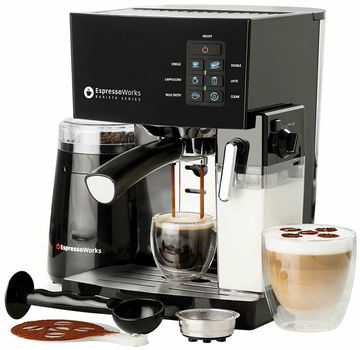 10 Pc All-In-One Barista Bundle Espresso Machine