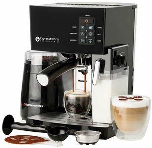 8 10 Pc All-In-One Barista Bundle Espresso Machine